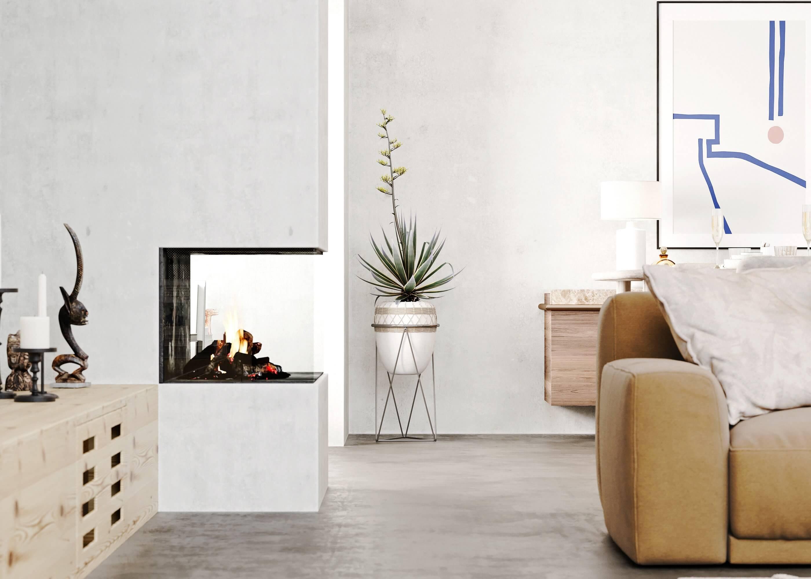 Sin-cinnati living room fire place