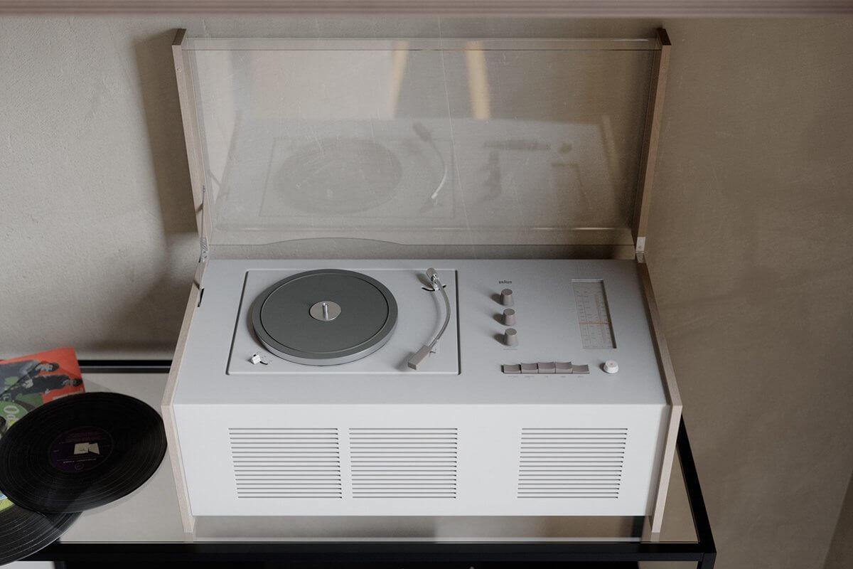Studio Apartment in Berlin Kreuzberg-living-room-vinyl-records-player-design