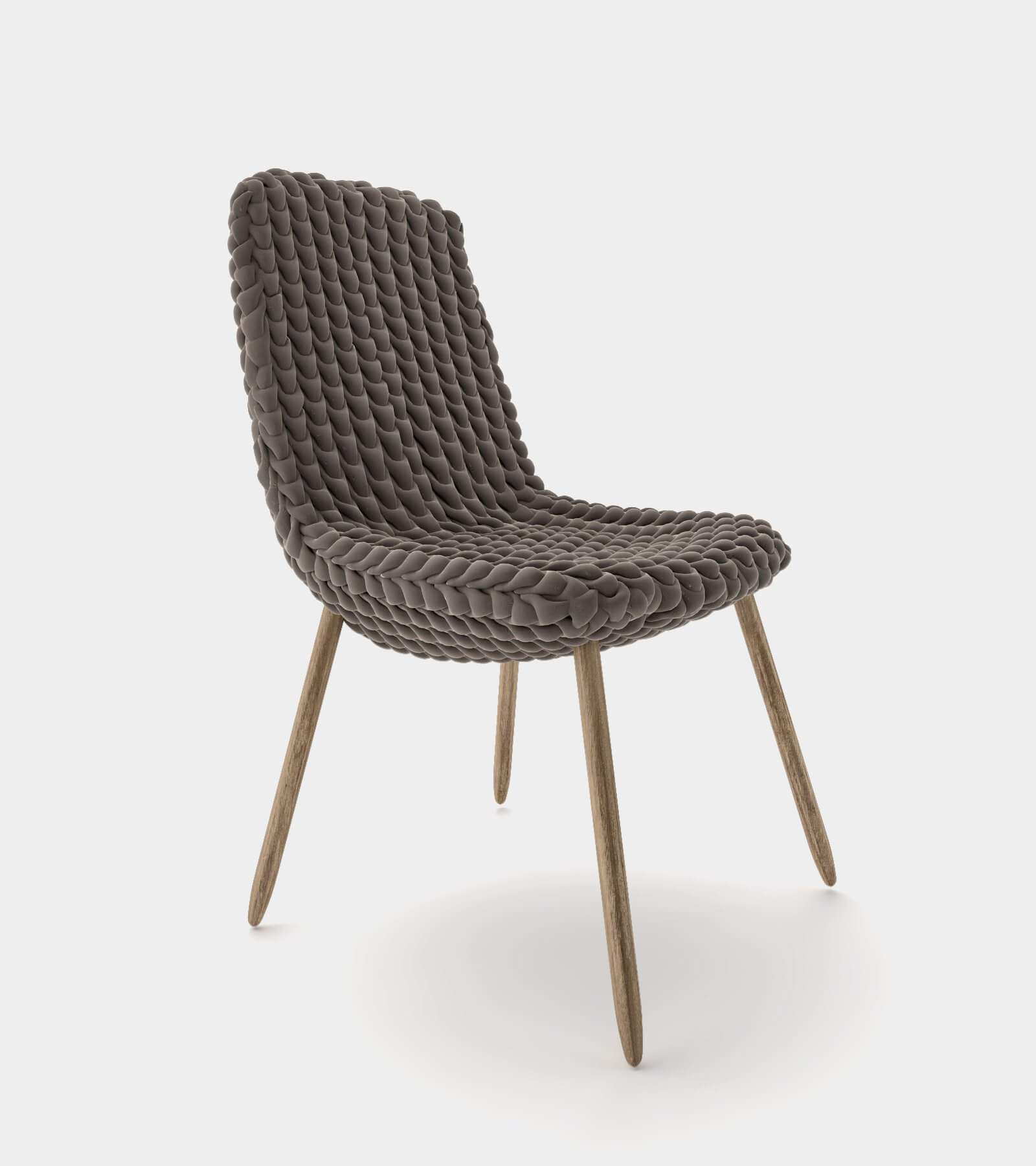 Fabric dining chair-1 - 3D model