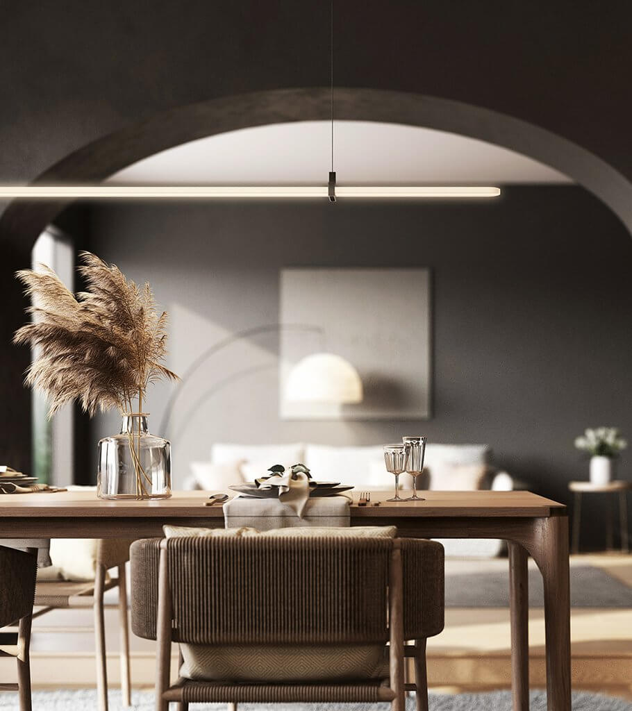 Dutch house dining table room header - cgi visualization