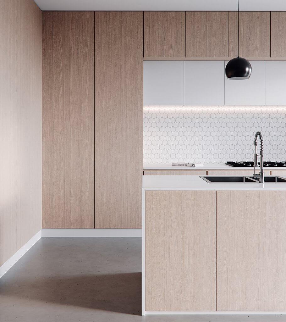 Kitchen Visualizer: Minimalistic Kitchen Design // Cgi Visualization