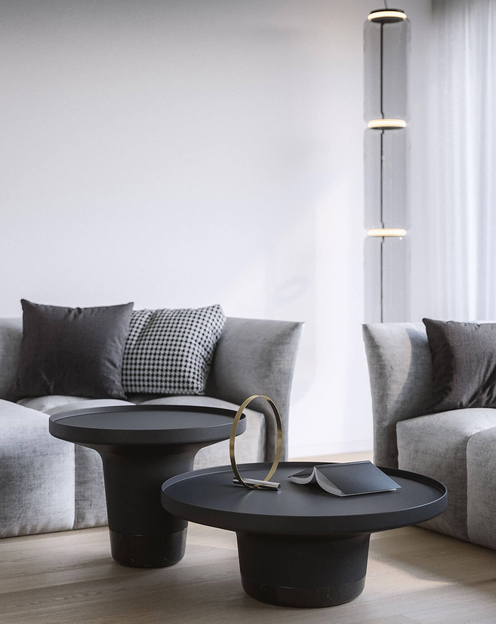 Suprematic Simplicity Apartment living room side table metal - cgi visualization