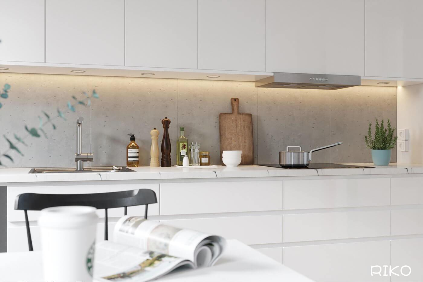 White kitchen design accessoires - cgi visualization