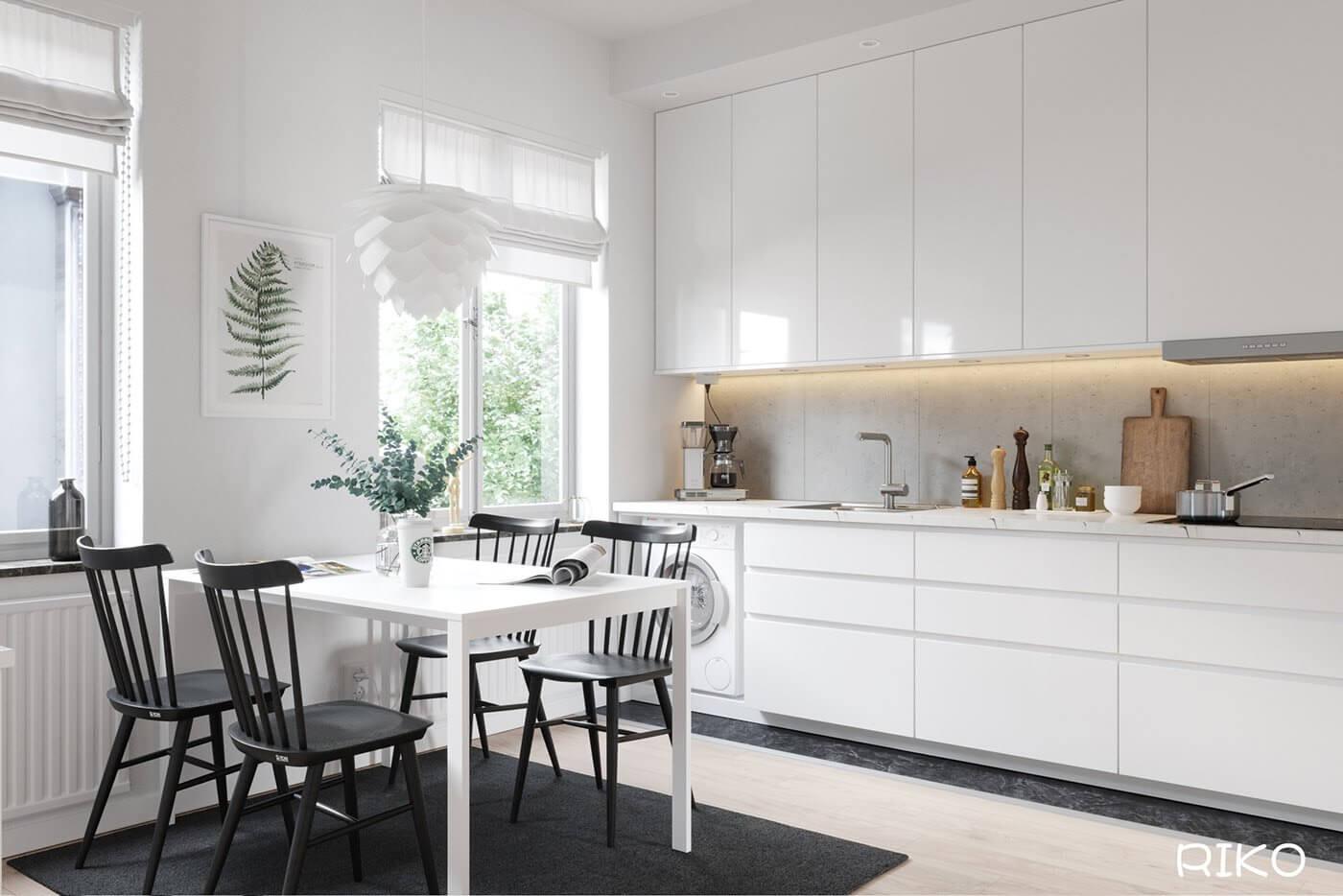 White kitchen design - cgi visualization