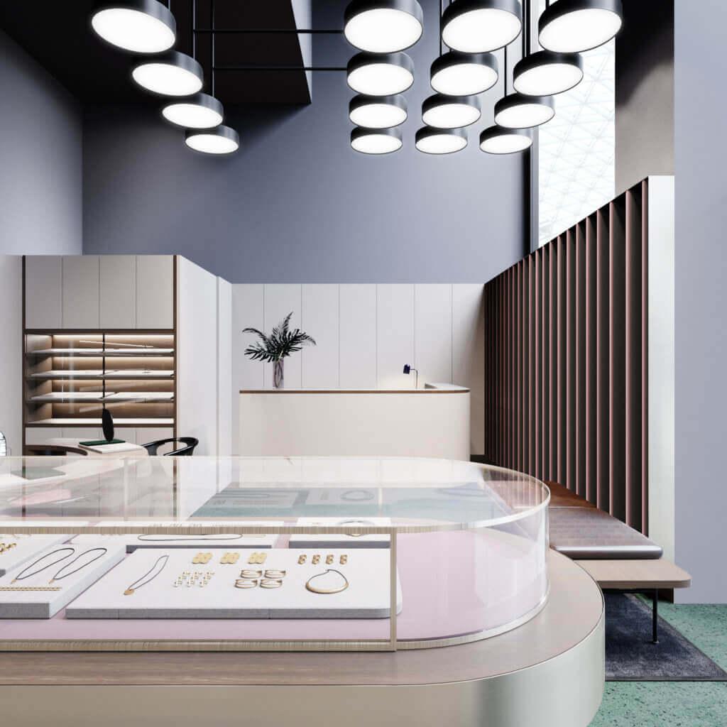 Amazing Jewelry store inspiration 2 - cgi visualization