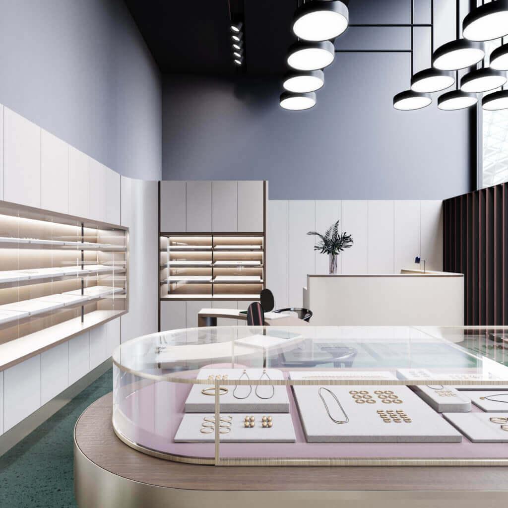 Amazing Jewelry store inspiration 4 - cgi visualization