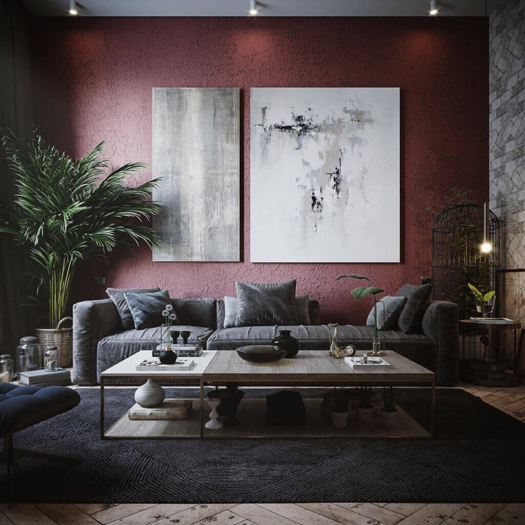 Cozy & Stylish interior Apartment - cgi visualization