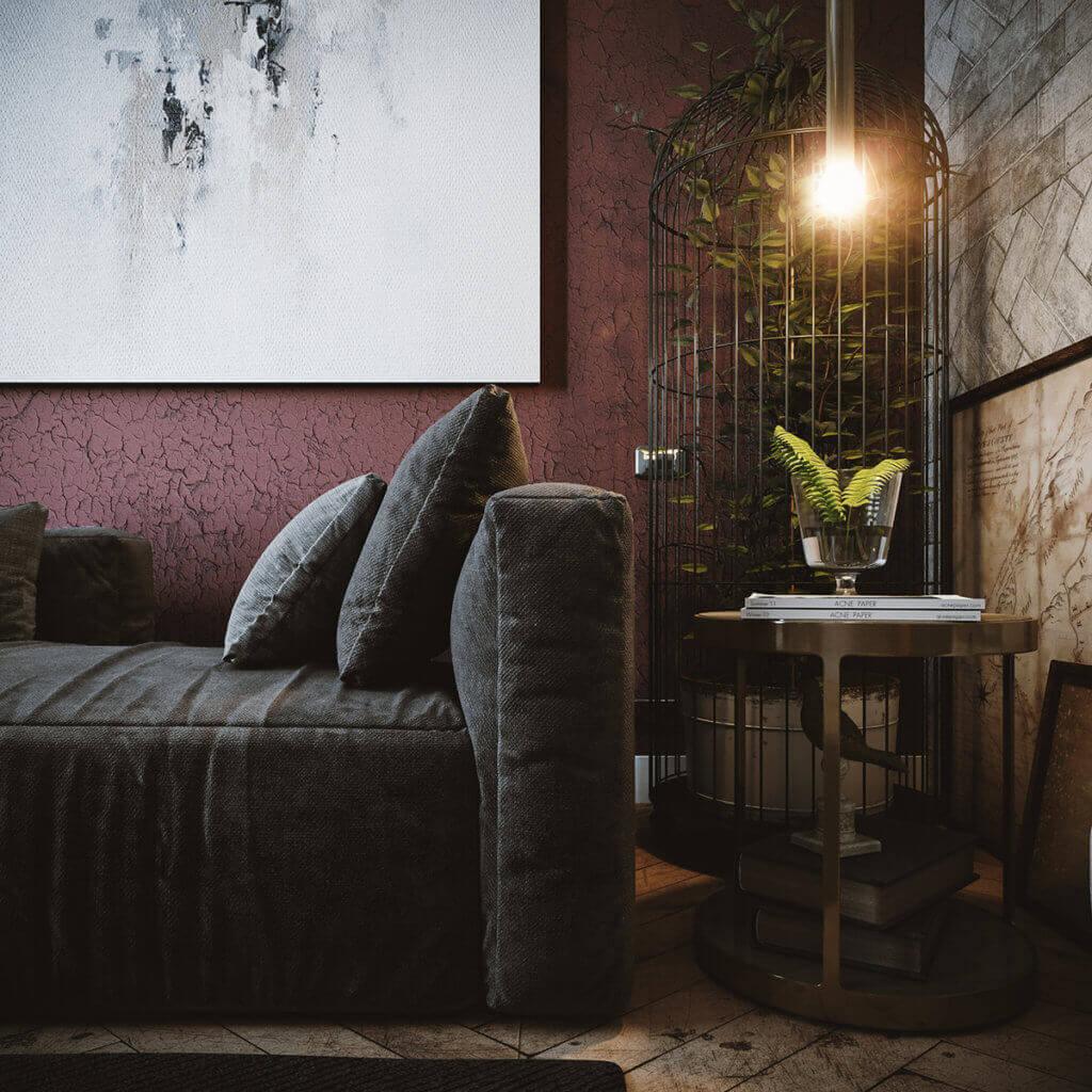 Cozy & Stylish interior Apartment - cgi visualization(1)