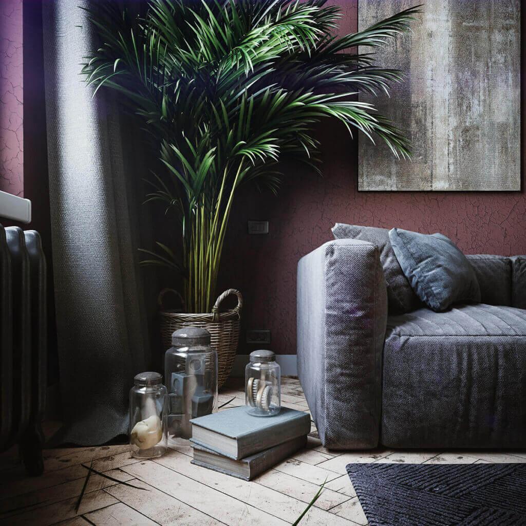 Cozy & Stylish interior Apartment - cgi visualization(2)