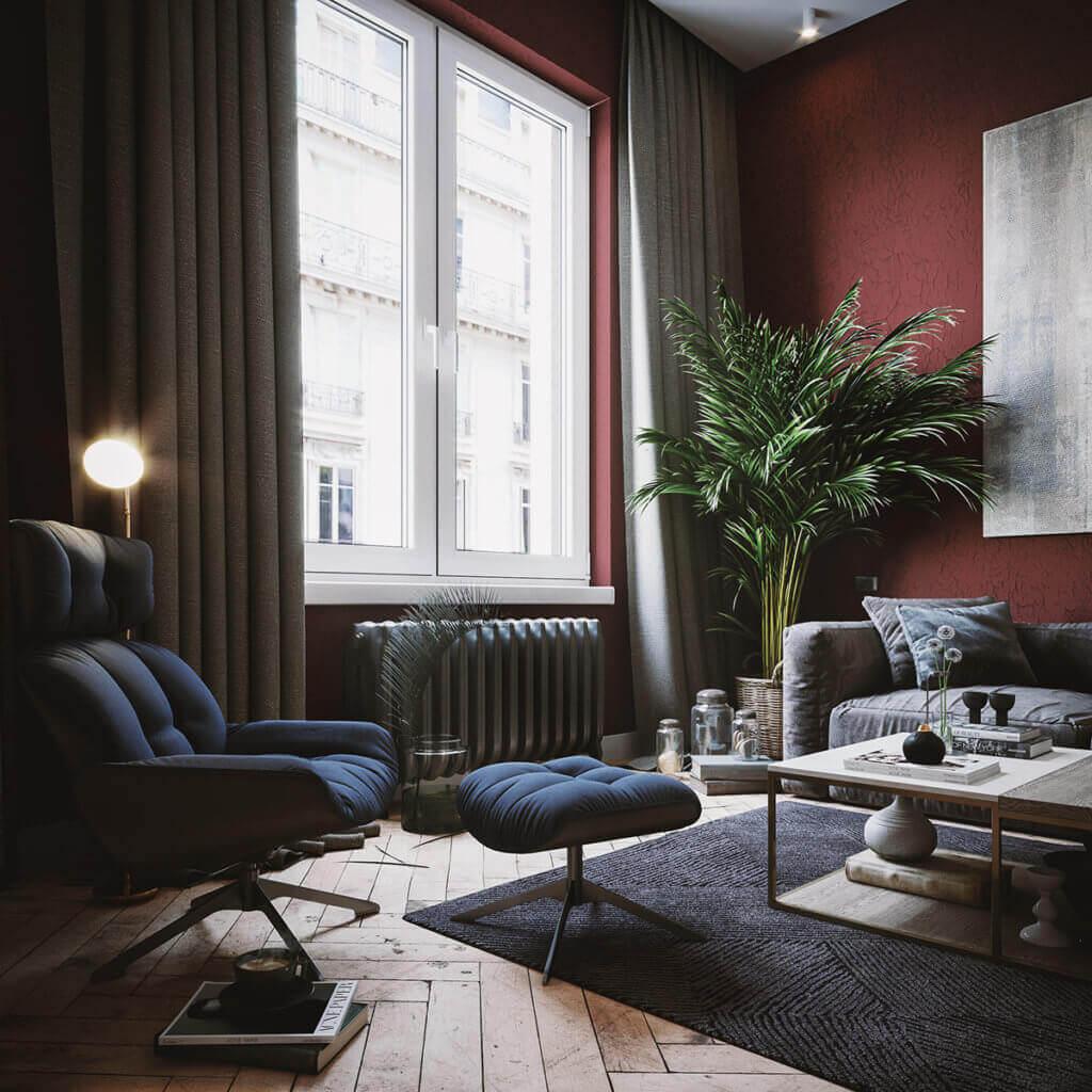 Cozy & Stylish interior Apartment - cgi visualization(3)