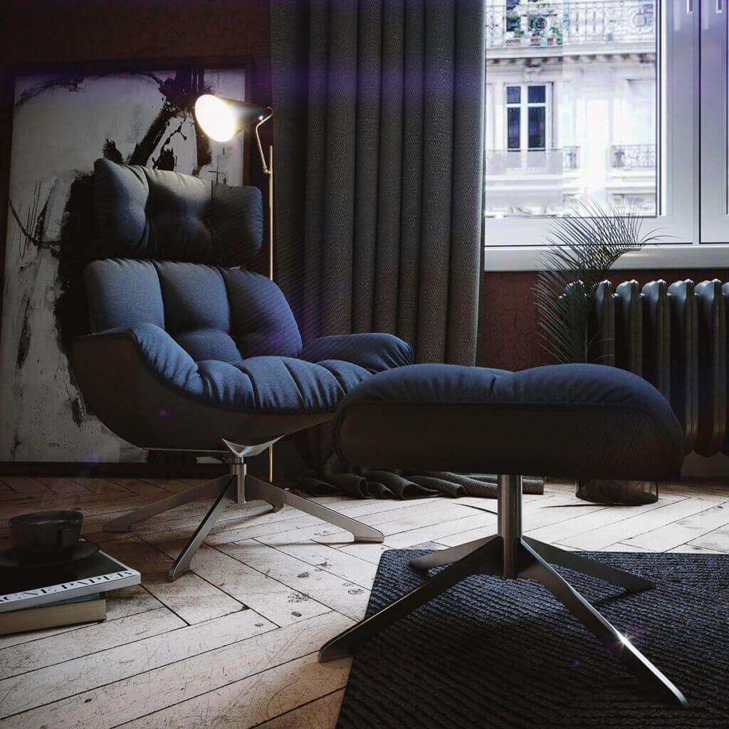 Cozy & Stylish interior Apartment - cgi visualization(5)