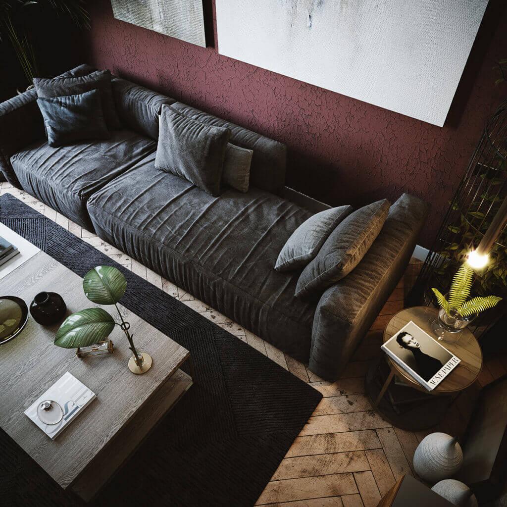 Cozy & Stylish interior Apartment - cgi visualization(6)