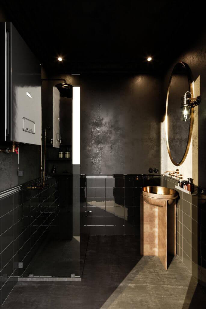 Elegant kitchen & Living design bathroom classic - cgi visualization