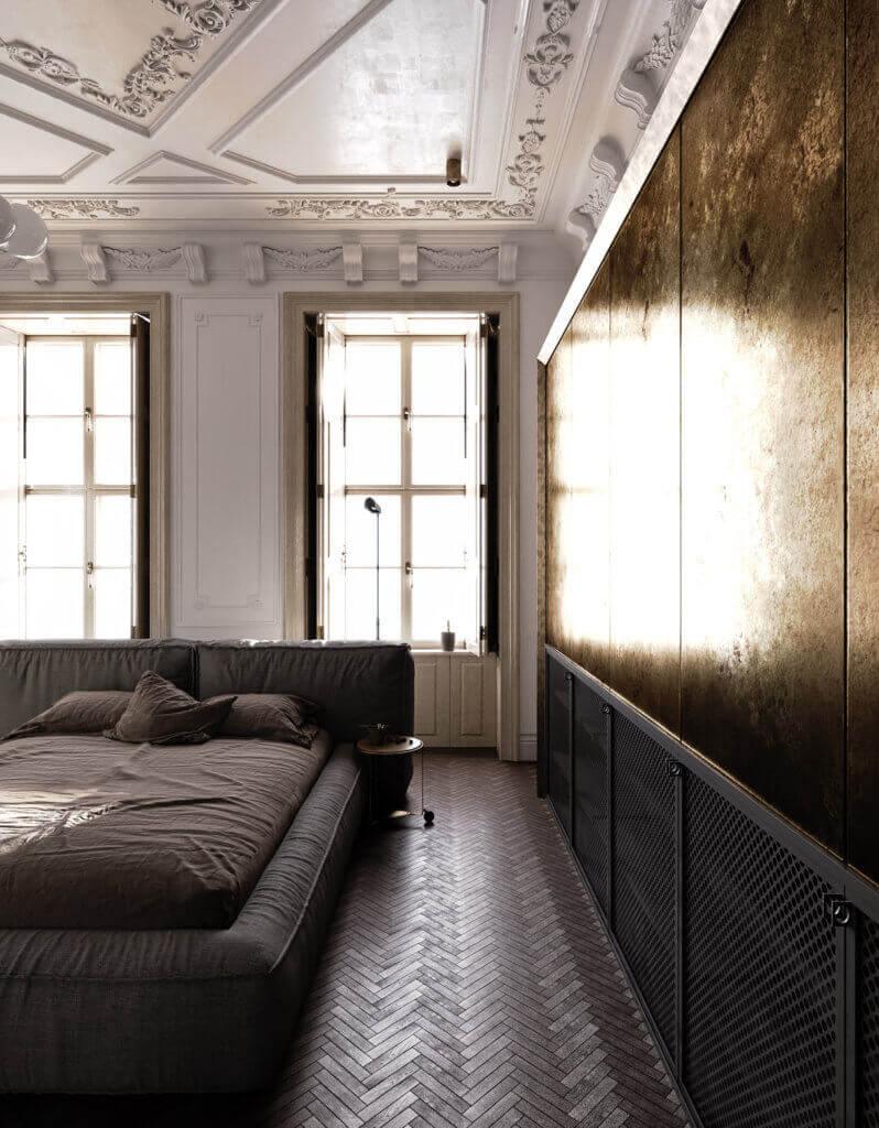 Elegant kitchen & Living design bedroom - cgi visualization