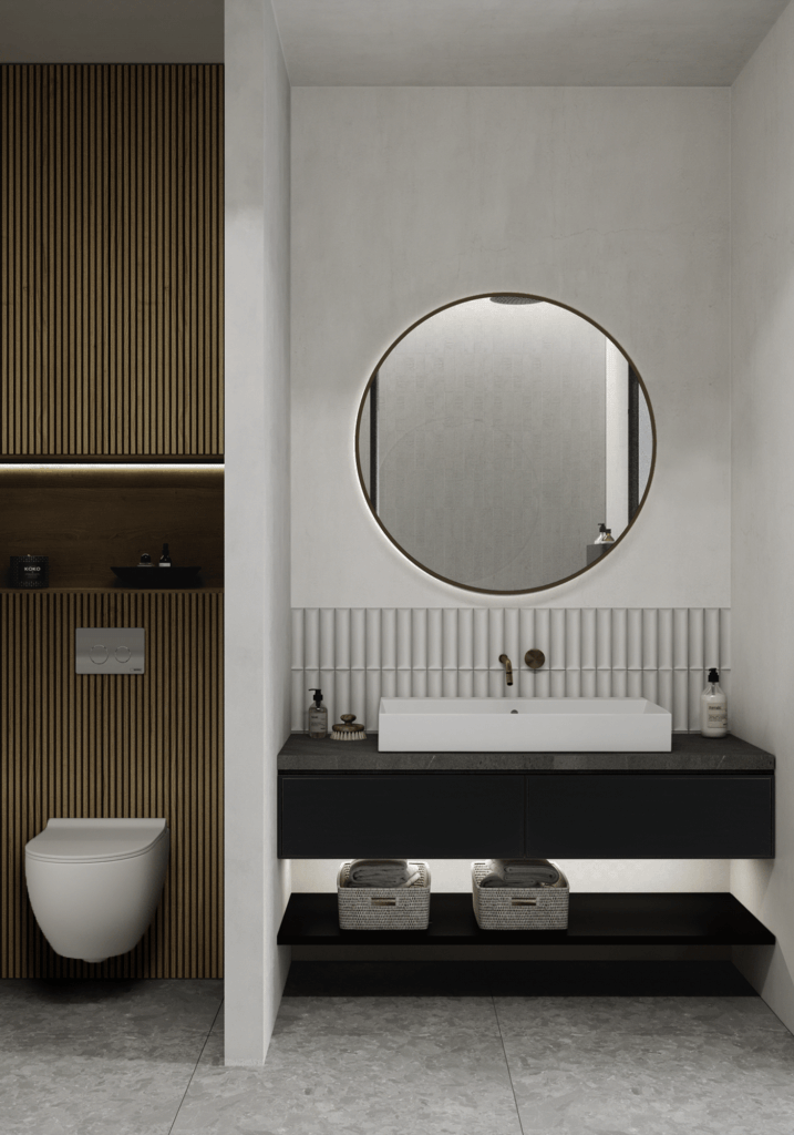 LA Pari Living & Kitchen Apartment - CGI Visualization(10)