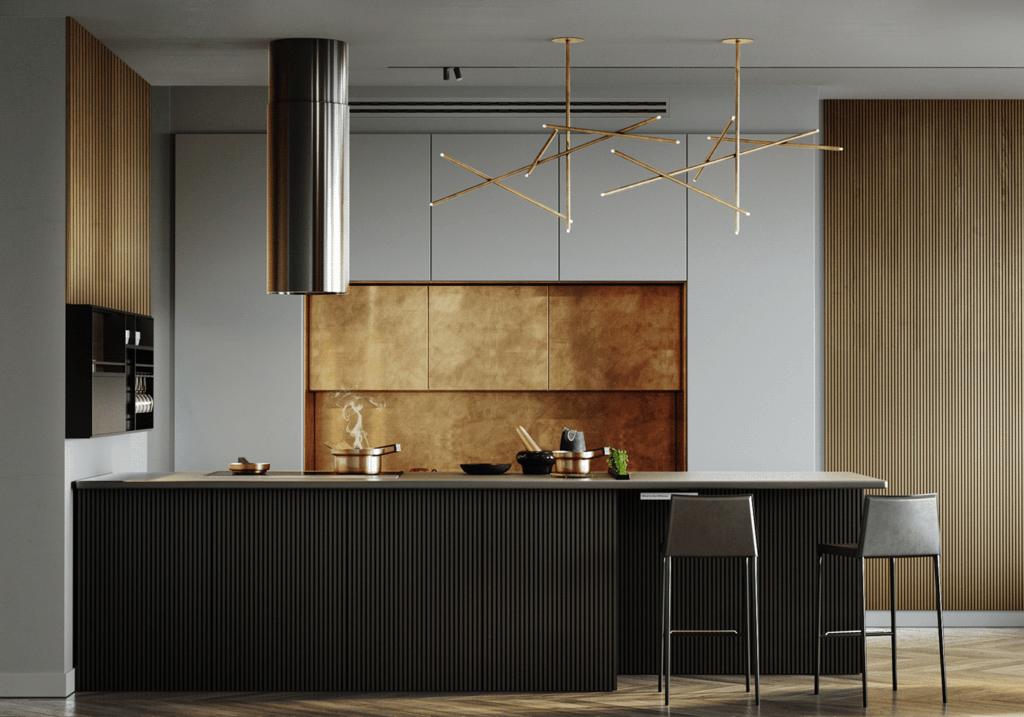 LA Pari Living & Kitchen Apartment - CGI Visualization(5)