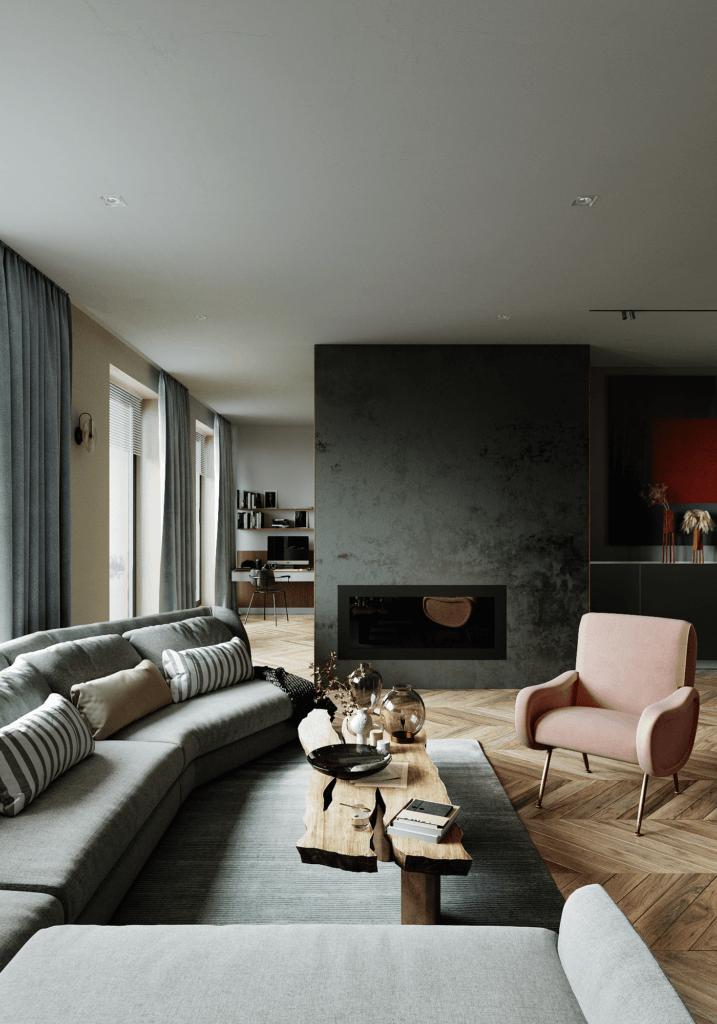 LA Pari Living & Kitchen Apartment - CGI Visualization(6)