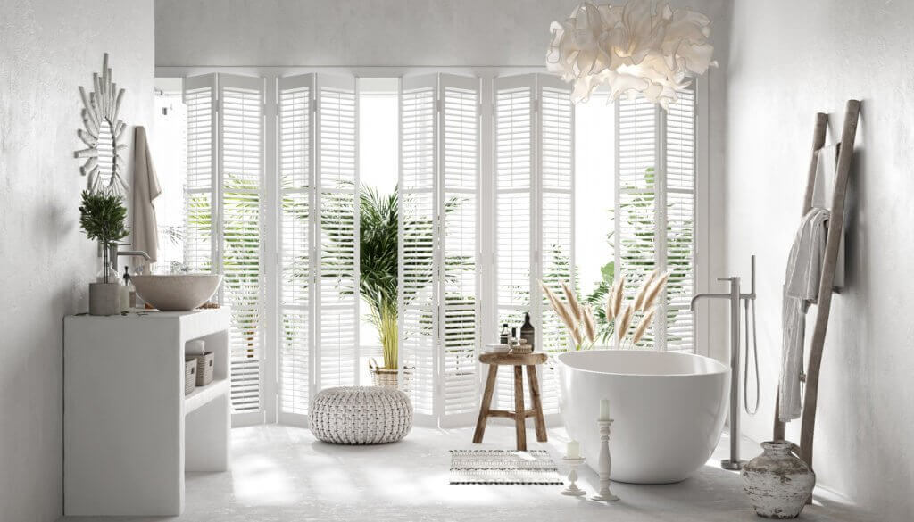 Perfect & lovely white Bathroom design - cgi visualization