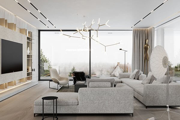 Stylish Villa Interior & Living Design living cozy - cgi visualization