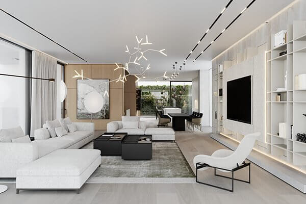 Stylish Villa Interior & Living Design living inspiration - cgi visualization