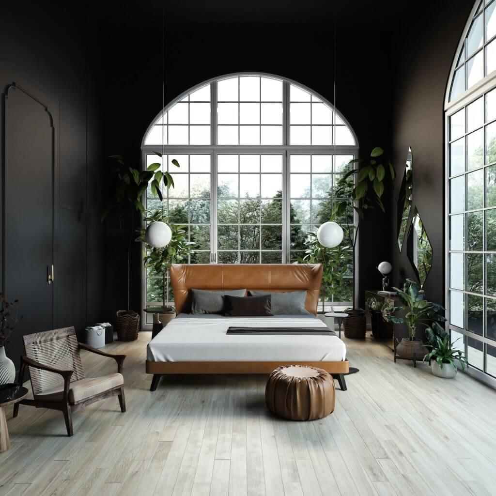 Trendy Bedroom Inspiration bed - cgi visualization
