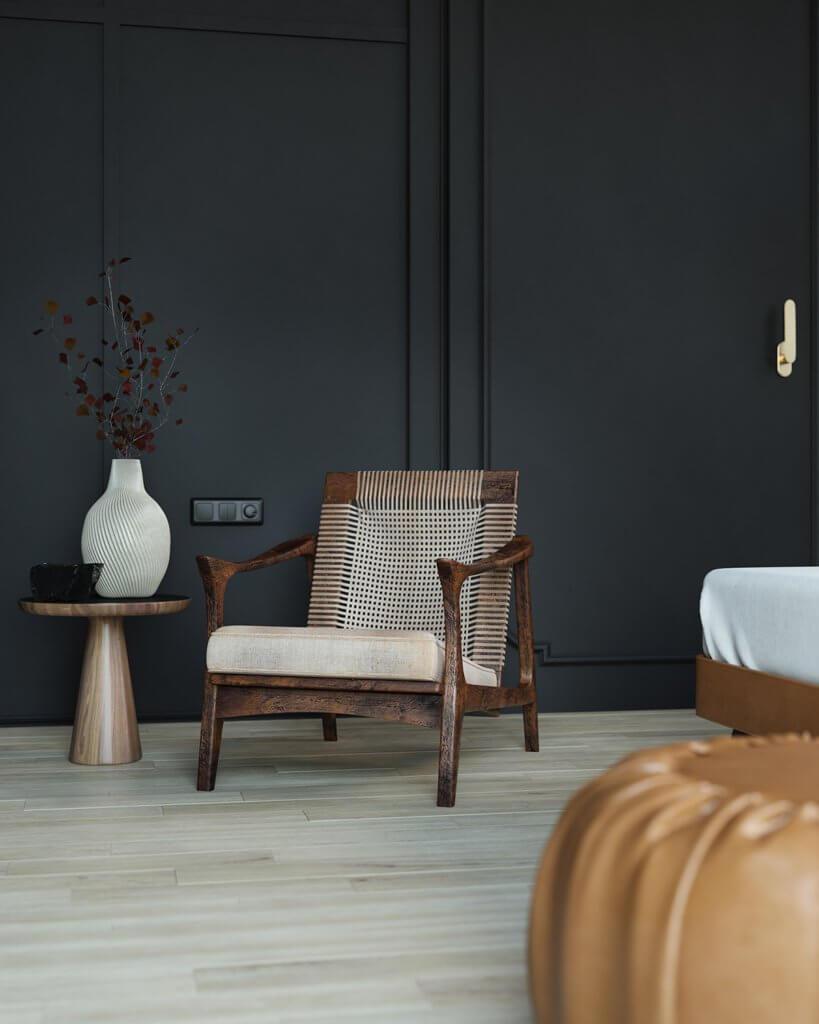 Trendy Bedroom Inspiration lounge chair - cgi visualization