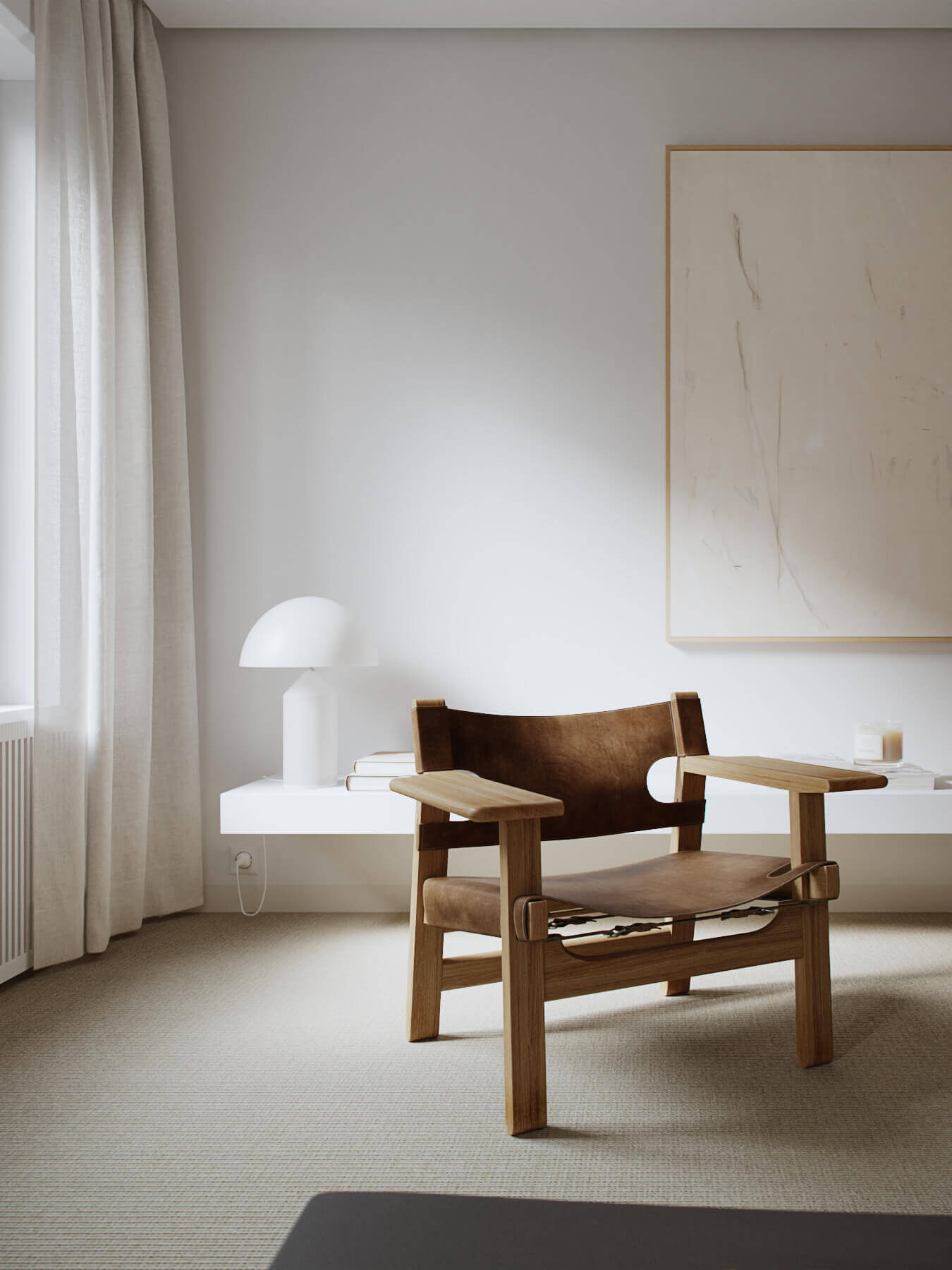 Trendy Living & Kitchen apartment lounge chair - cgi visualization