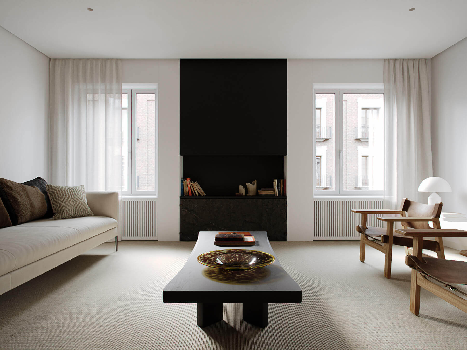 Trendy Living & Kitchen apartment sofa couch - cgi visualization