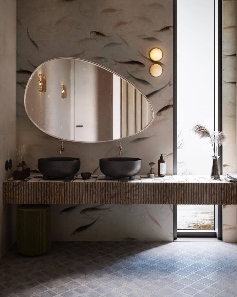 Warsaw top penthouse design bathroom - cgi visualization