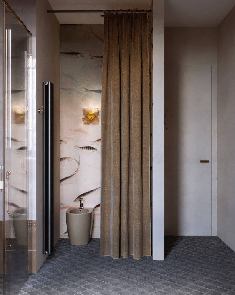 Warsaw top penthouse design bathroom minimalistic - cgi visualization