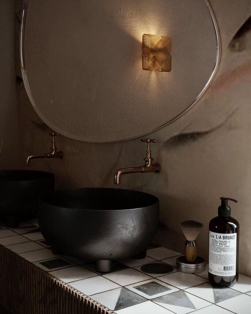 Warsaw top penthouse design bathroom sink black - cgi visualization