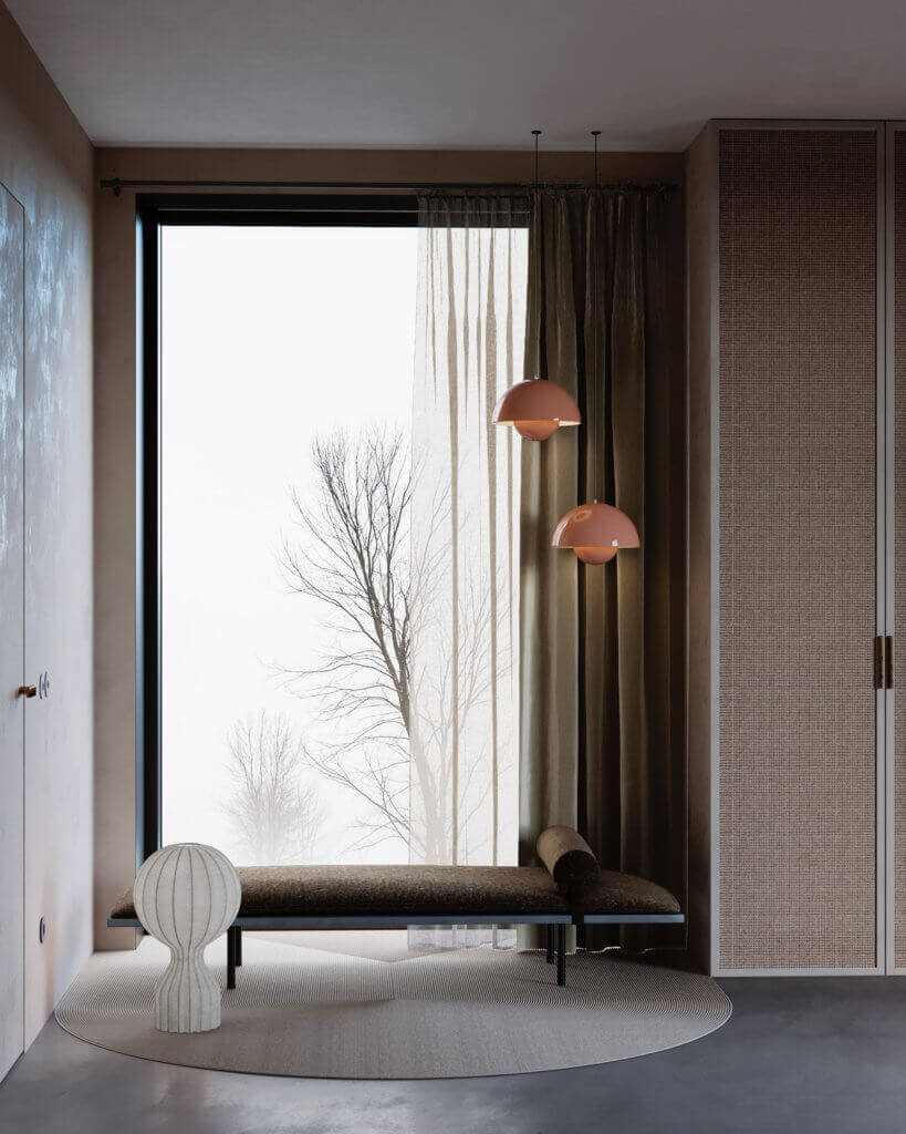 Warsaw top penthouse design entrance area lounge - cgi visualization