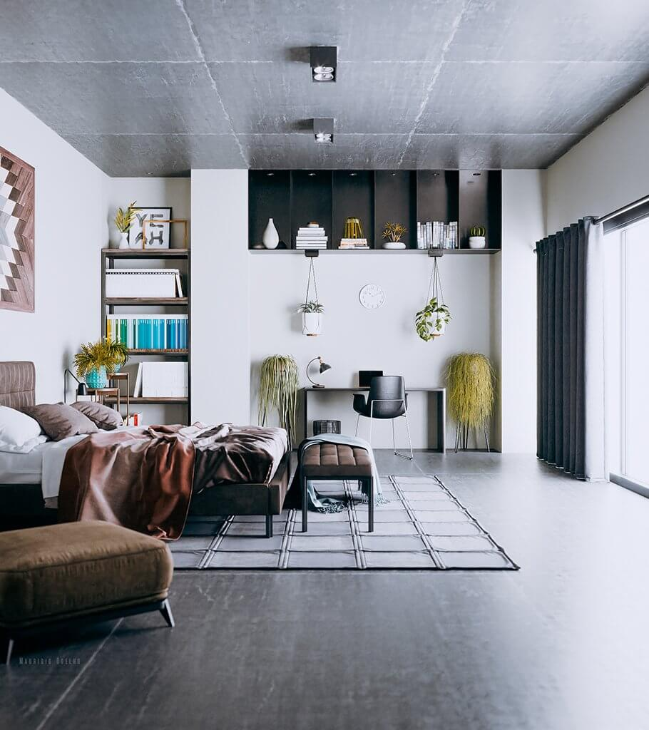 Awesome & open Bedroom design - cgi visualization 5