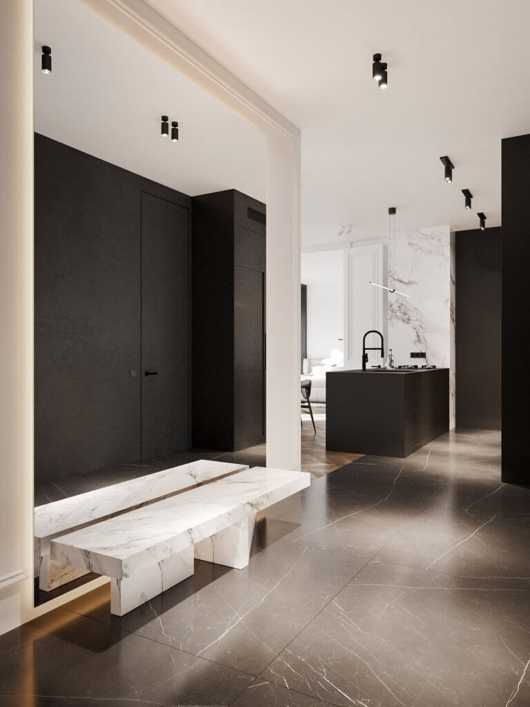 Bright and stylish apartment design - cgi visualization