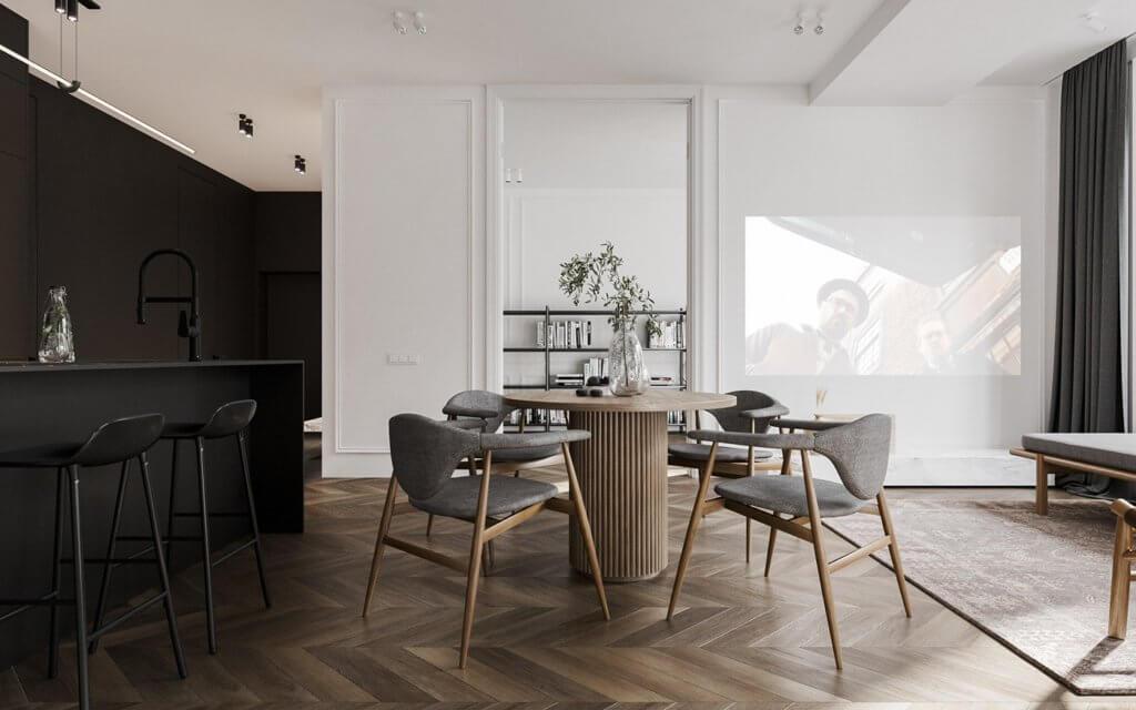 Bright and stylish apartment design - cgi visualization(1)