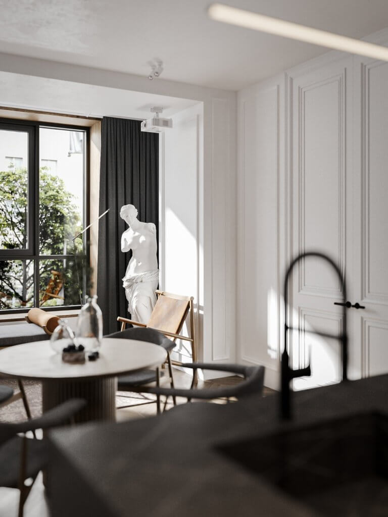 Bright and stylish apartment design - cgi visualization(12)