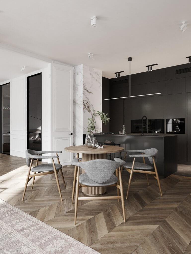 Bright and stylish apartment design - cgi visualization(2)