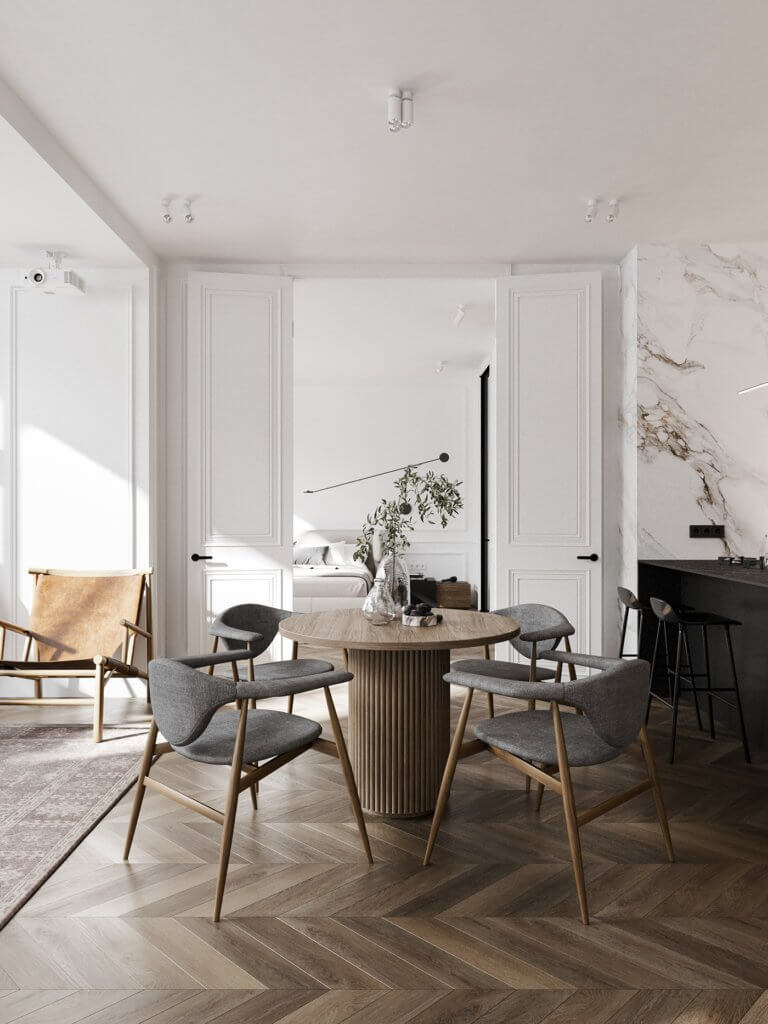 Bright and stylish apartment design - cgi visualization(3)