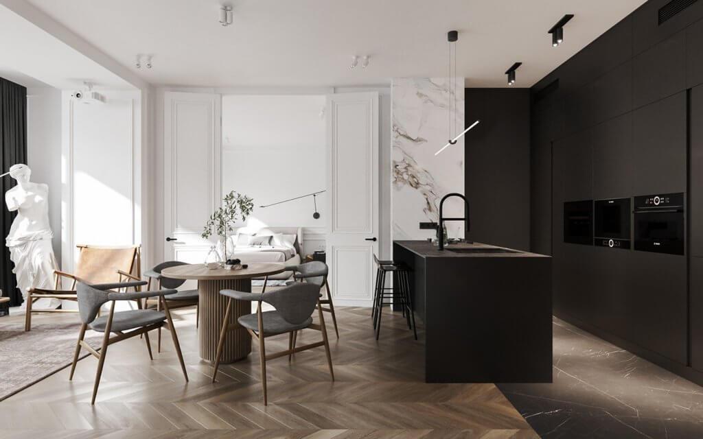 Bright and stylish apartment design - cgi visualization(4)