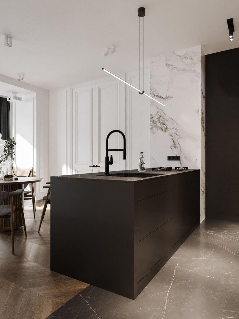 Bright and stylish apartment design - cgi visualization(6)