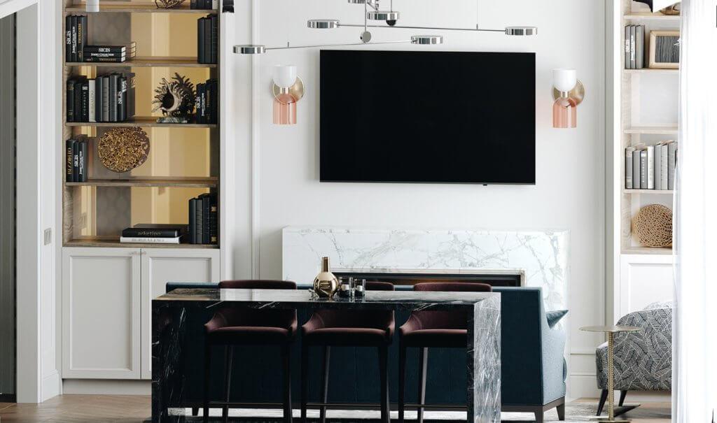 Elegant and luxury Apartment living design - cgi visualization(1)