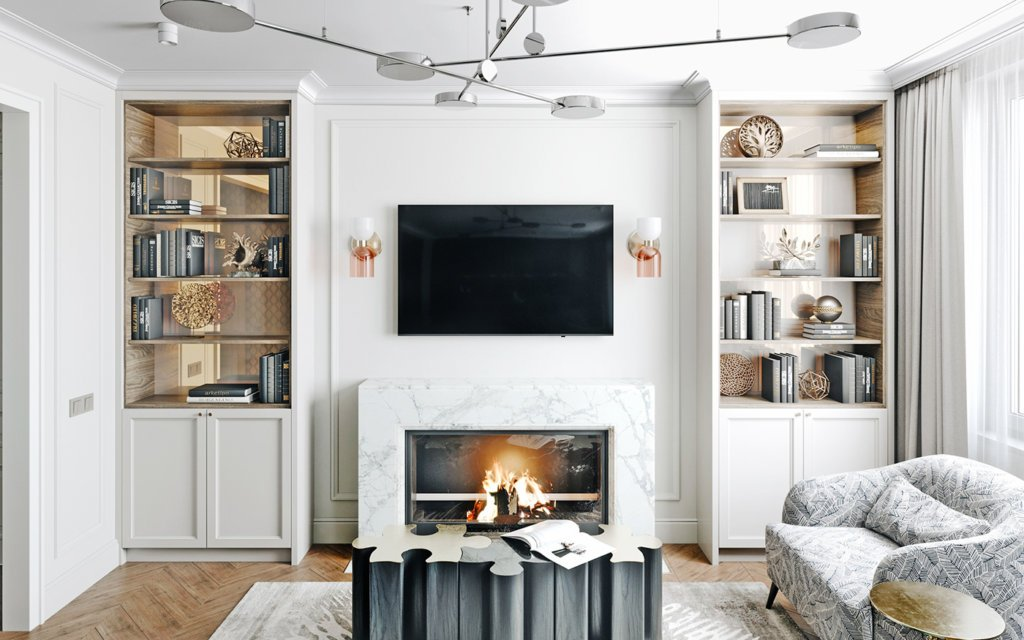 Elegant and luxury Apartment living design - cgi visualization(3)