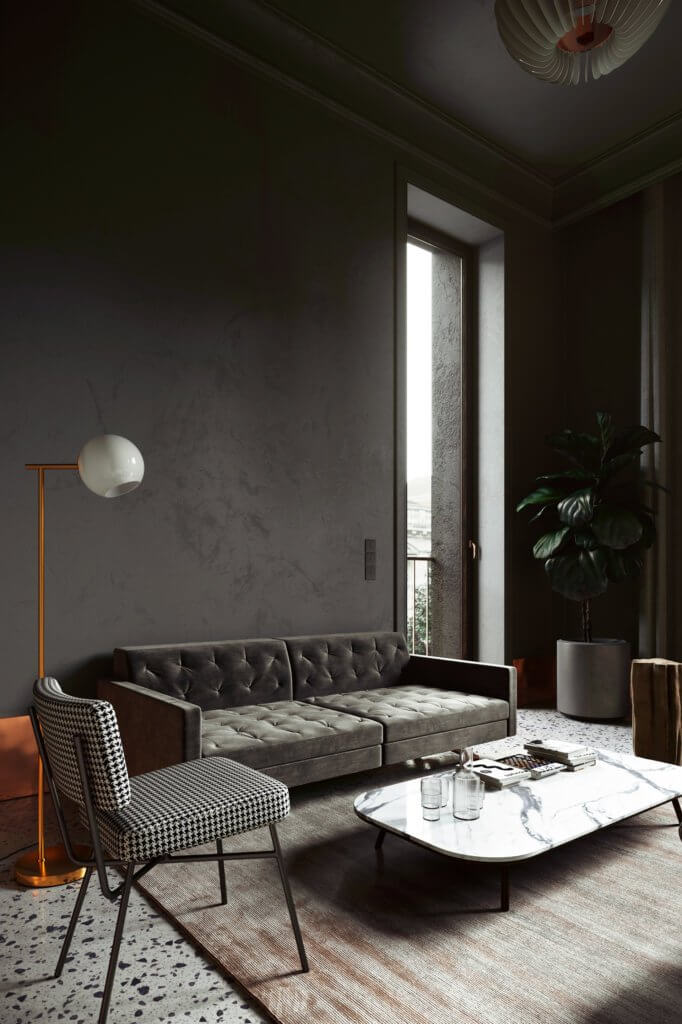 Classic Aparthotel design in Barcelona - cgi visualization 3