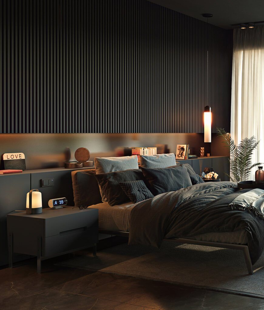 Cozy Bedroom design idea - cgi visualization(1)
