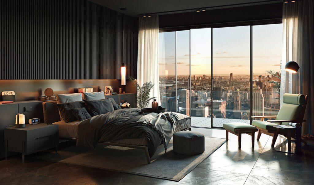 Cozy Bedroom design idea - cgi visualization(3)