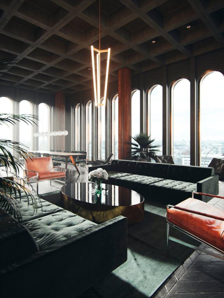 Headquarter green office design - cgi visualization 5