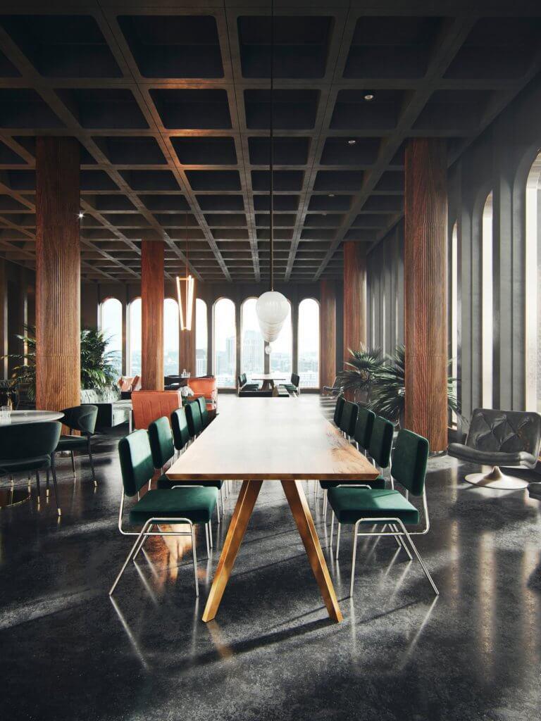 Headquarter green office design - cgi visualization 7