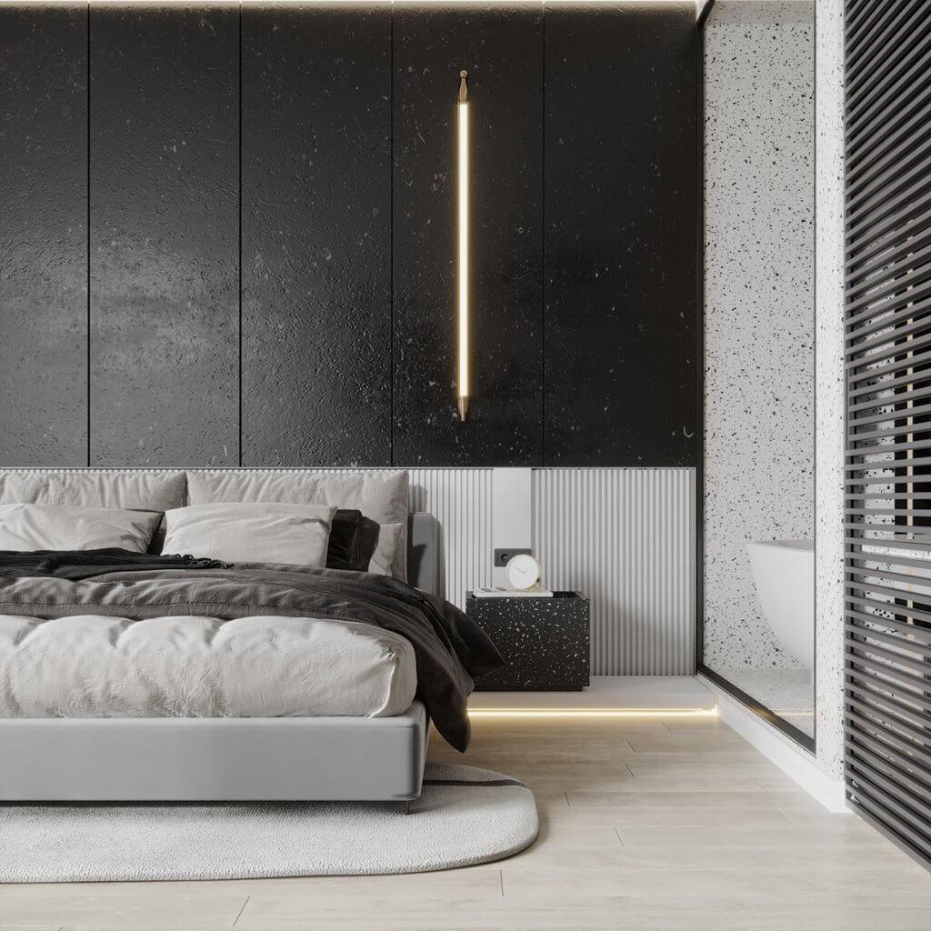 Interior Design trendy and minimalistic living room - cgi visualization(12)