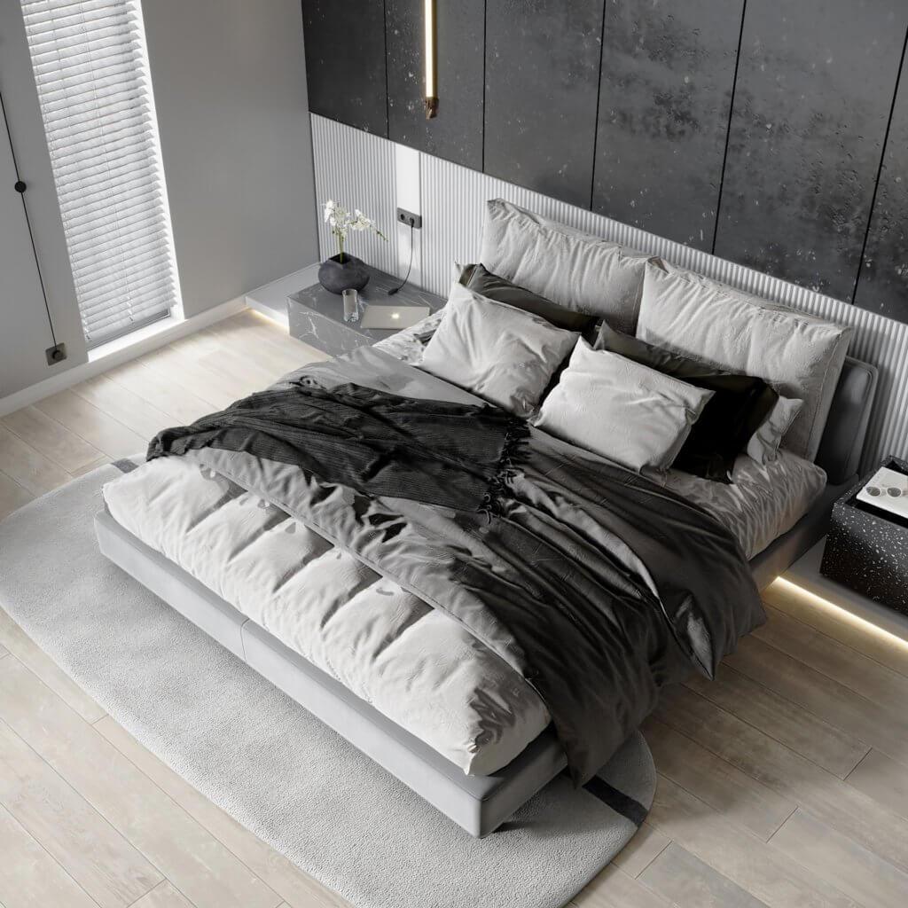 Interior Design trendy and minimalistic living room - cgi visualization(14)