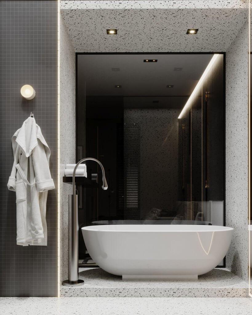 Interior Design trendy and minimalistic living room - cgi visualization(21)